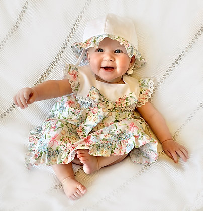 Floral Dress and Summer Hat