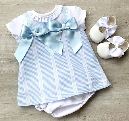 Gingham Bow Dress and Panties