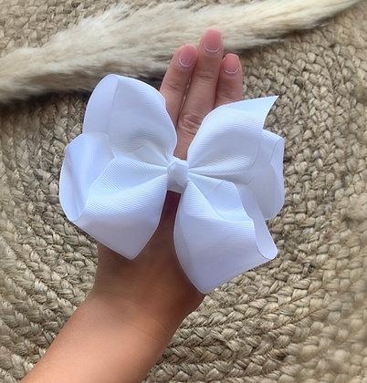 6 inch Bow Headband (White)