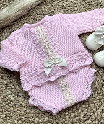 Harriet Bow Jam pant set - Pink