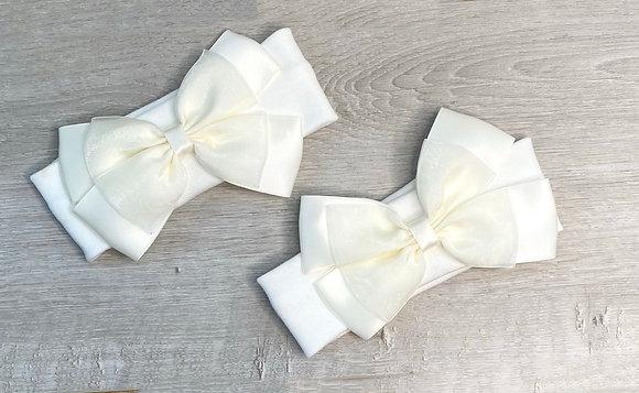 Bow headbands Cream