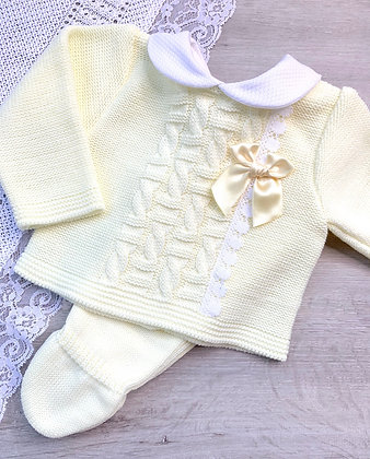 Lemon peter pan collar 3 piece set