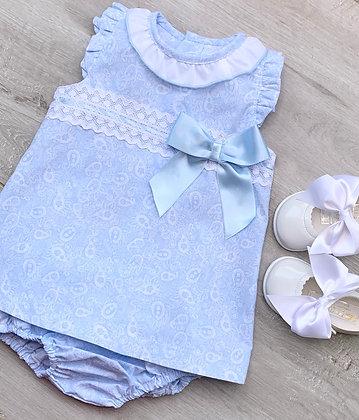 Paisley Dress and panties (Blue)