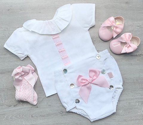 Harriet  Pink Bow Jam Pant set