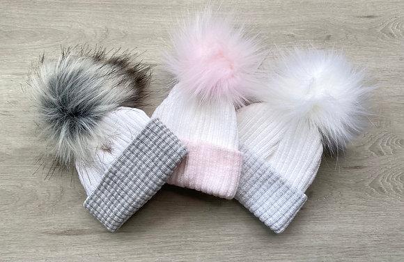 Newborn Pom Pom Hats