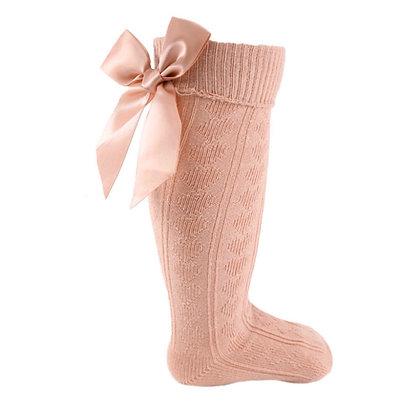 Rose Gold Pink knee socks