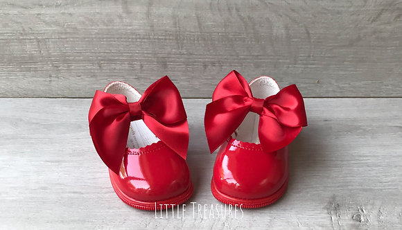 Red Hard sole Big Bow shoe