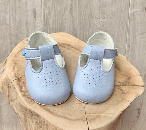 Boys Soft soled baby blue shoes