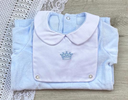 Baby Boy Crown Velour