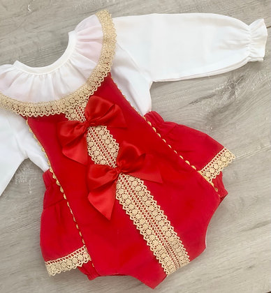 Ruby Red and Gold Set