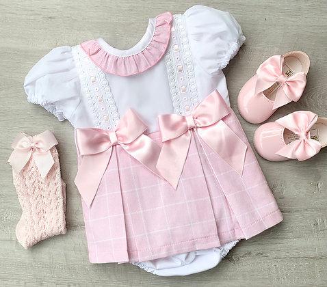 Harper Dress and Panties Baby Pink