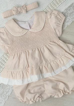 Caramel and Cream Dress and Panties
