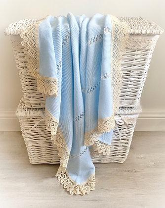 Bronte Spanish Blanket (Baby Blue)