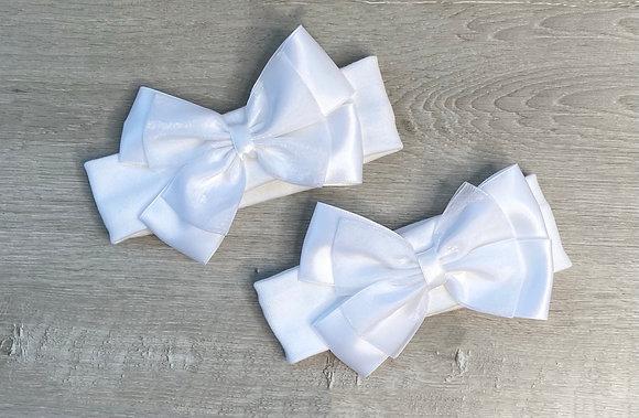 Bow headbands White