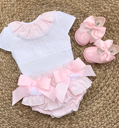 Double Bow Pink Blouse and Jam Pant