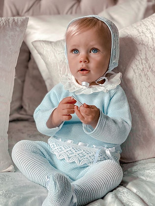 Limited Edition Halo luxury Knitted Set (Baby Blue)