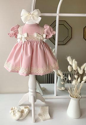 Lottie short Style Dress Rose Gold