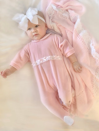 Pink Bow Velour