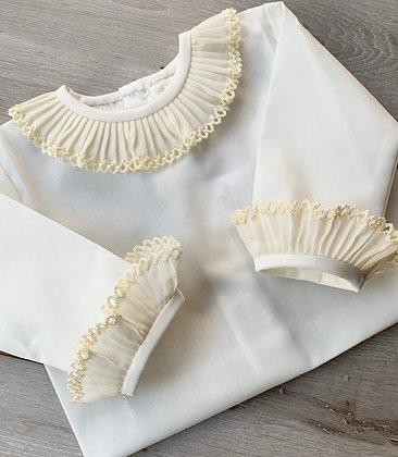Luxury ruffle blouse (cream)