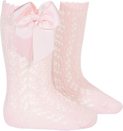 Condor Openwork Bow socks Pink