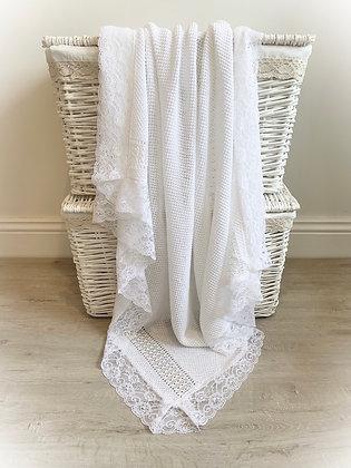 Paris Luxury Blanket (White)