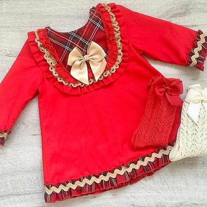 Tartan Red Dress
