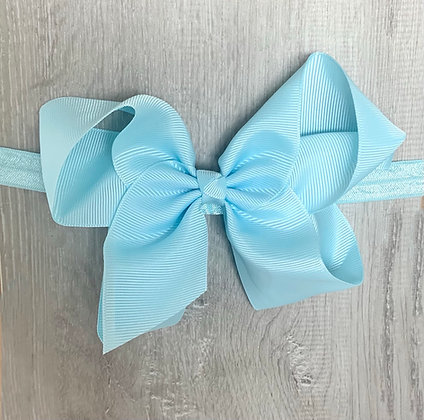 6 inch Bow Headband (Baby Blue)