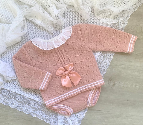 Rose Gold Bow Jam Pant Set