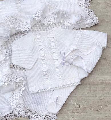 Valentia Luxury 3 piece in White