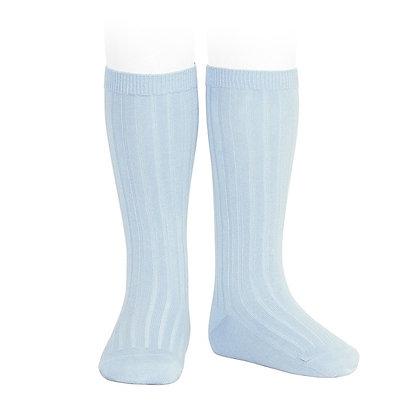 Condor Ribbed Socks Baby Blue
