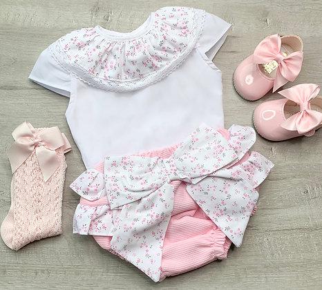 Floral Bow Jam pant set