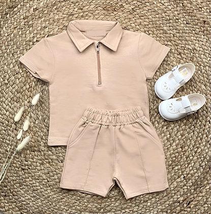 Roman Shirt and Short Set - Sand