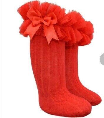 Red Tutu knee socks