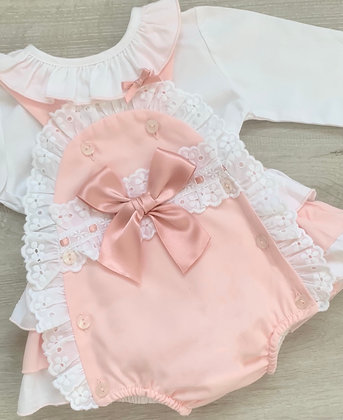 Rose Gold Romper and Blouse