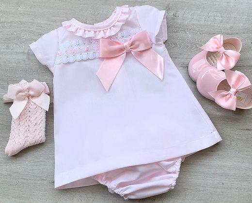 Mia Baby pink Dress with panties
