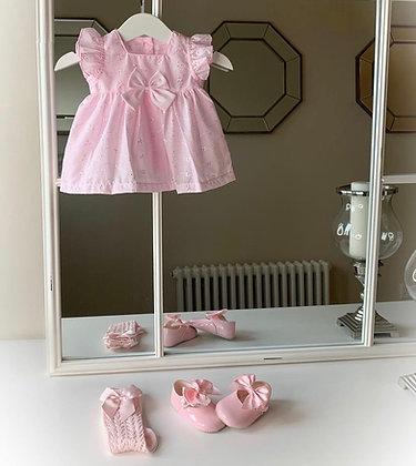 Daisy Dress and Headband Baby Pink