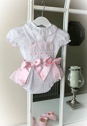 Harper Blouse and Romper Baby Pink