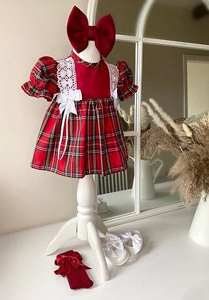 Traditional Red Tartan drop Dress