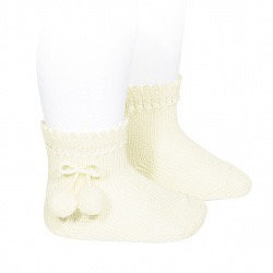 Condor Ankle Pom Pom Socks Cream