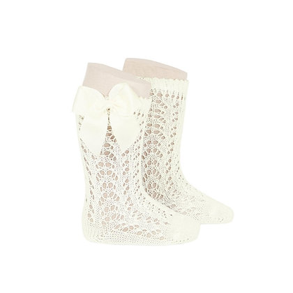 Condor Openwork Bow socks Cream