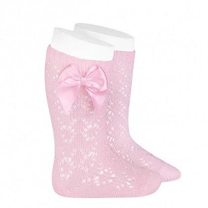 Condor Bow socks Baby Pink