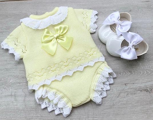Lemon Bow Jam Pant set