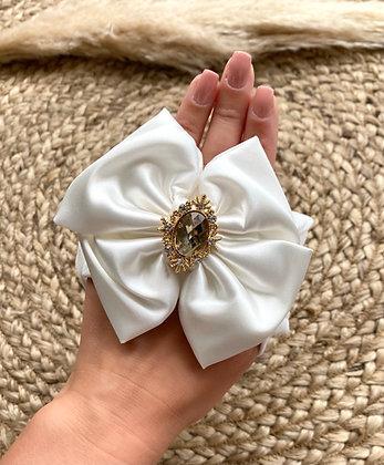 Diamanté Headband - White
