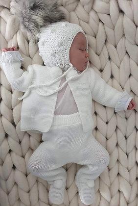White Pom Pom pram suit