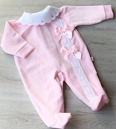 Pink Heart Velour
