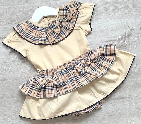 Creme Brûlée Blouse and Skirt