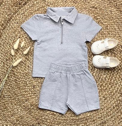 Roman Shirt and Short Set - Grey