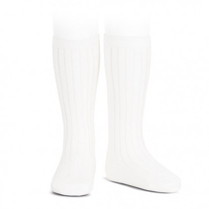 Condor Ribbed Socks White