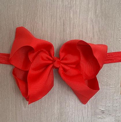 6 inch Bow Headband (Red)