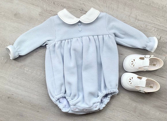 Baby Blue Thick Cord style Romper